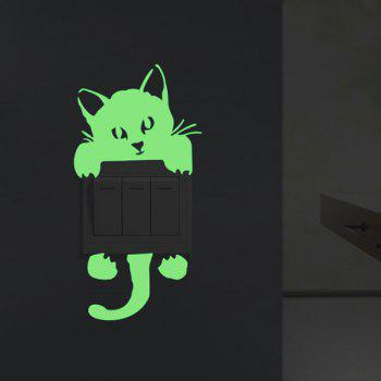 Night Noctilucence Cat Wall Sticker