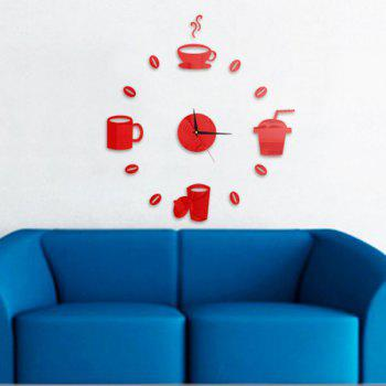 Cup Pattern DIY Wall Clock