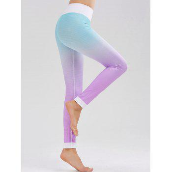 High Waist Fishscale Printed Ombre Fitness Leggings