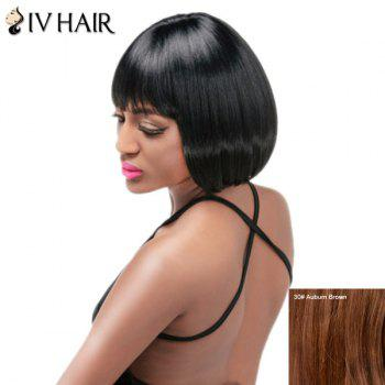 Siv Hair Short Neat Bang Straight Bob Human Hair Wig