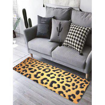 Leopard Print Water Absorption Skidproof Flannel Bathroom Rug