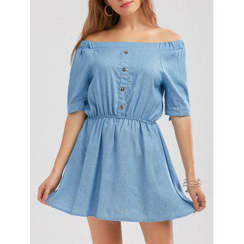 Off The Shoulder Knotted High Waist Dress
