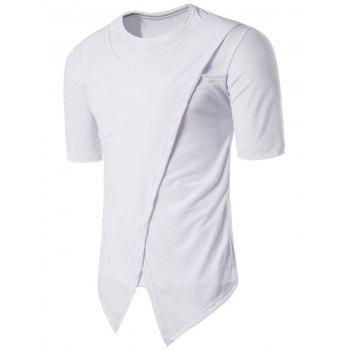 Crew Neck Half Sleeve Novelty Panel T-shirt