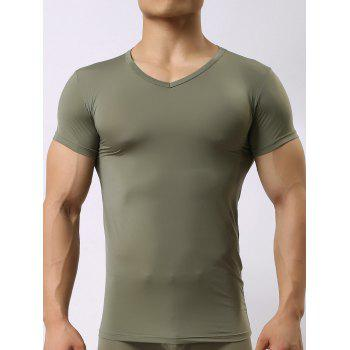 V Neck High Stretch T-shirt