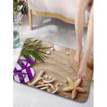 Beach Slippers Print Flannel Skidproof Door Mat