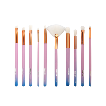 MAANGE 10Pcs Ombre Facial Makeup Brushes Set - Bleu