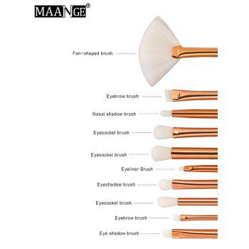 MAANGE 10Pcs Ombre Facial Makeup Brushes Set - GREEN
