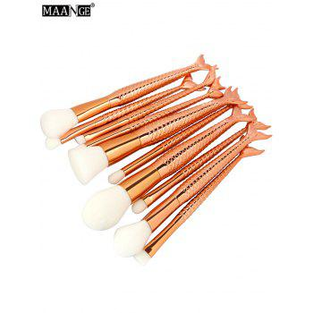 MAANGE 11Pcs Mermaid Makeup Brushes and Foundation Brush - ROSE GOLD