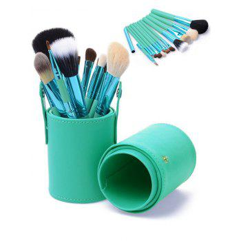 12Pcs Multifunction Portable Makeup Brushes and Bucket