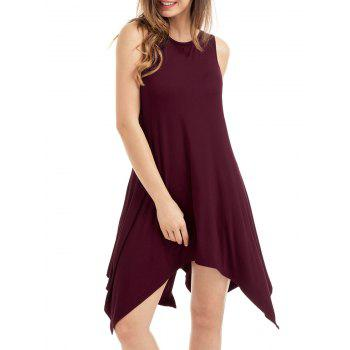 Asymmetrical Pockets Sleeveless Dress