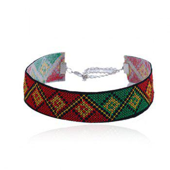 Geometric Ethnic Embroidery Choker Necklace