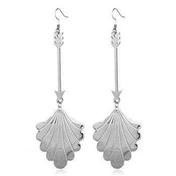 Metal Leaf Cupid Love Arrow Earrings
