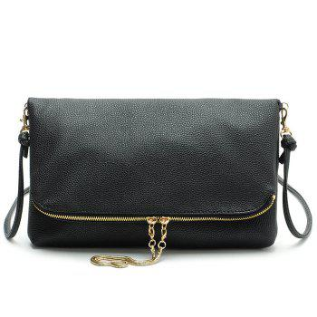 Fold Down Snake Chain Crossbody Bag