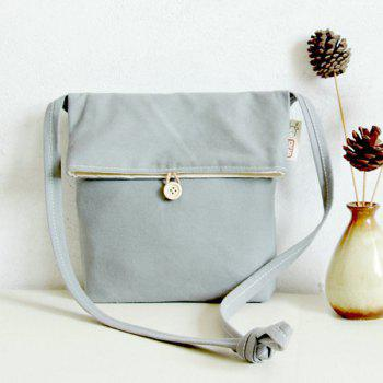 Casual Fold Down Canvas Crossbody Bag