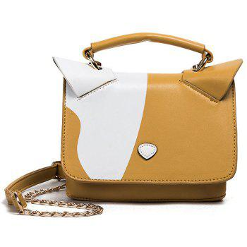 Cat Ear Color Block Crossbody Bag