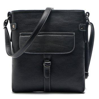 PU Leather Stitching Crossbody Bag