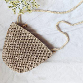 Woven Cross Body Straw Bag