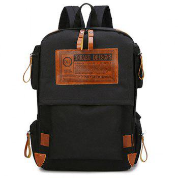 Casual Multi Pockets Graphic Patch Backpack
