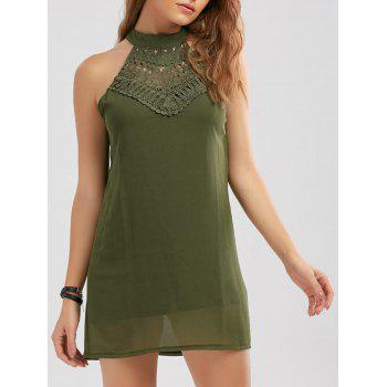 Crochet Lace Panel Cut Out Dress