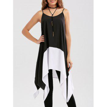 Two Tone Handkerchief Cami Blouse