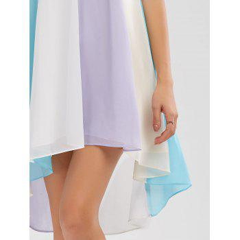 High Low Hem Flowy Slip Dress - COLORMIX COLORMIX