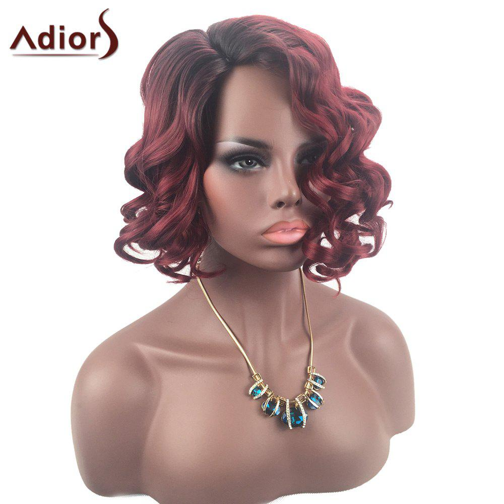 Adiors Colormix Short Shaggy Side Parting Curly Synthetic Wig adiors side parting long shaggy afro curly synthetic wig