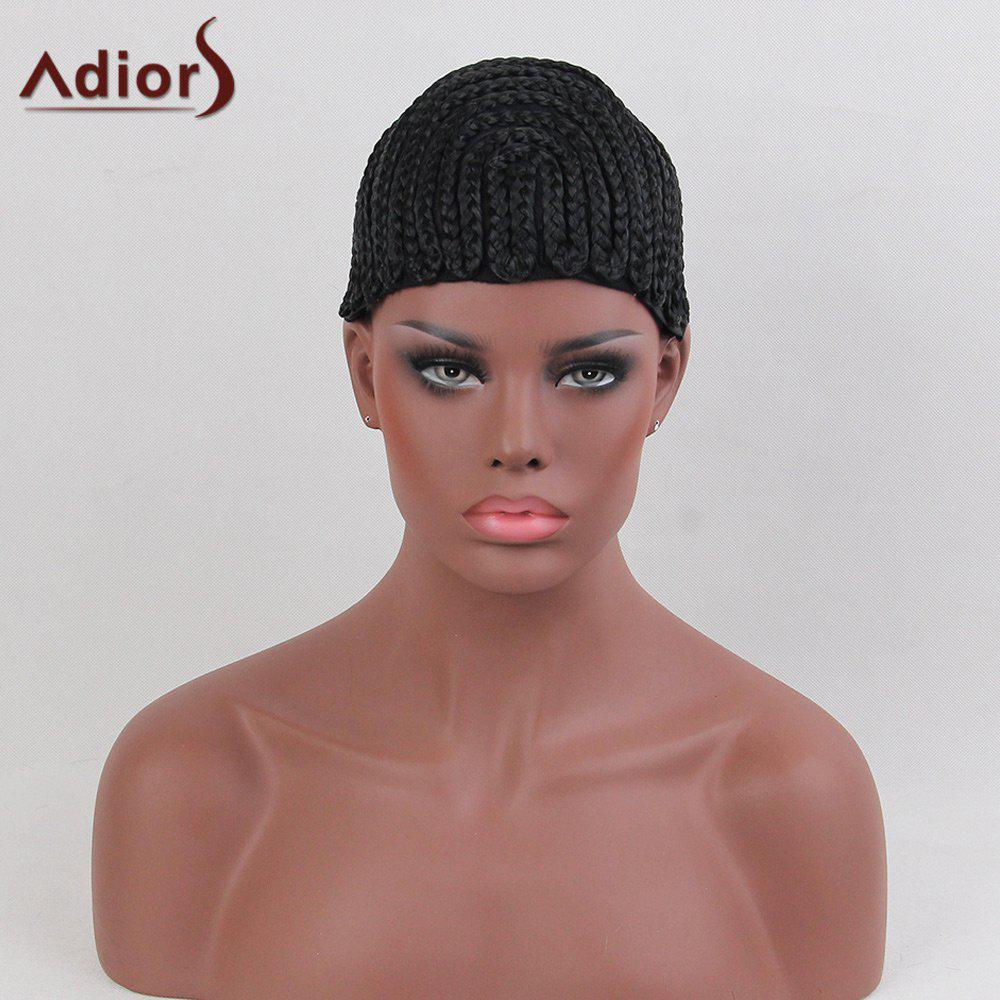 Adiors Lace Braids Cornrow Synthetic Wig Cap lace box braids wig synthetic black hair
