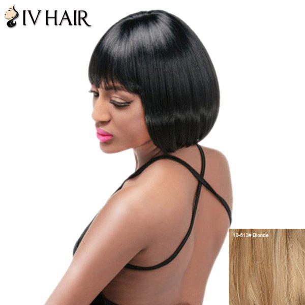 Siv Hair Short Neat Bang Straight Bob Perruque de cheveux humains - / Blonde