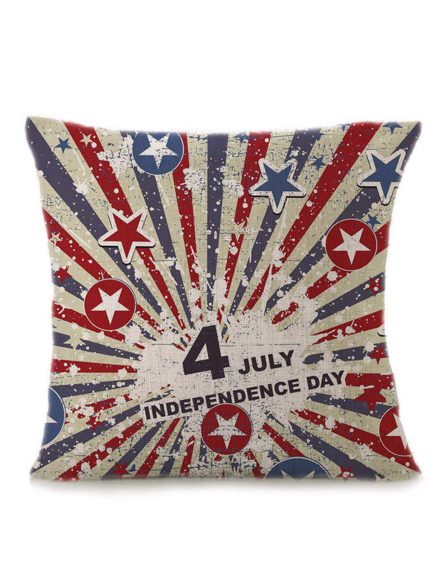 Patriotic Star Letter Printed Pillow Case handpainted pineapple and fern printed pillow case