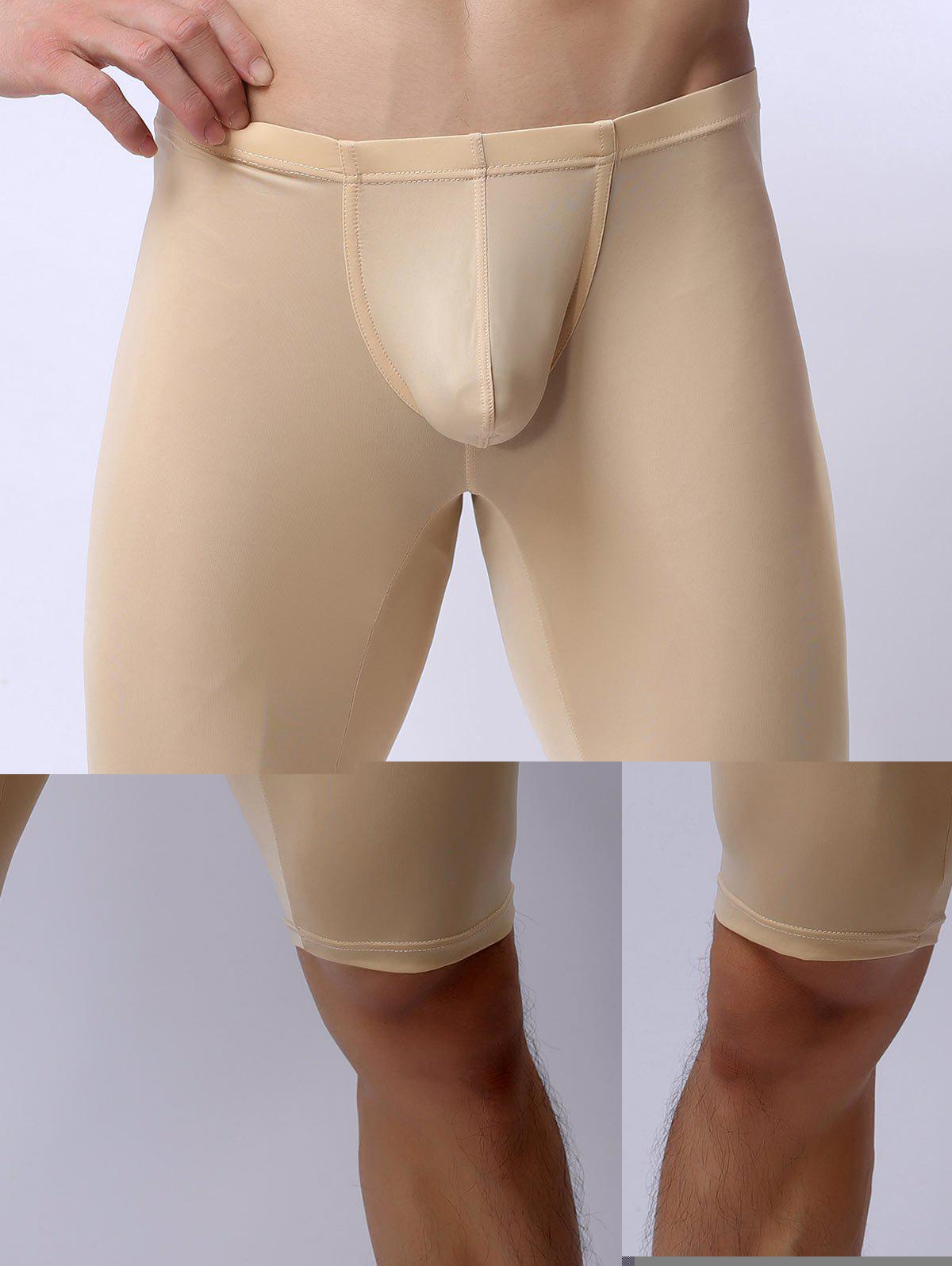 High Stretch U Convex Pouch Boxers - BEIGE XL