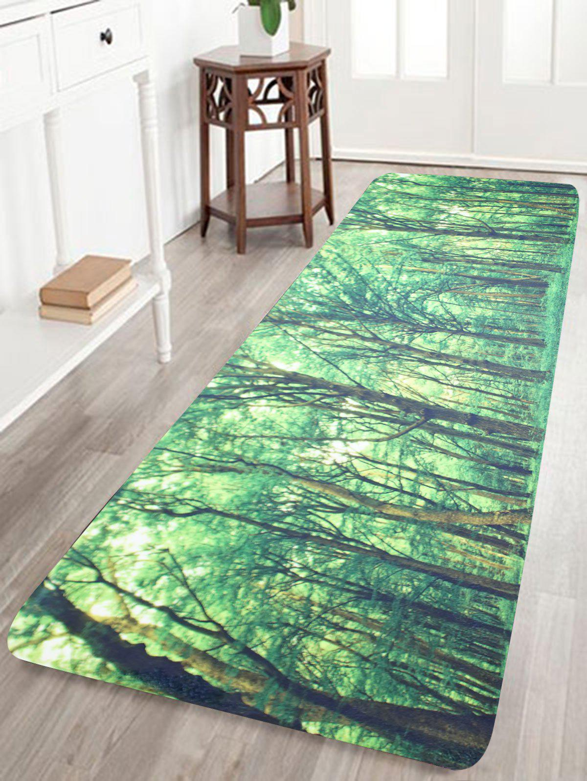 Forest Pattern Coral Fleece Bath Area Rug подвесной унитаз ifo special 731100100
