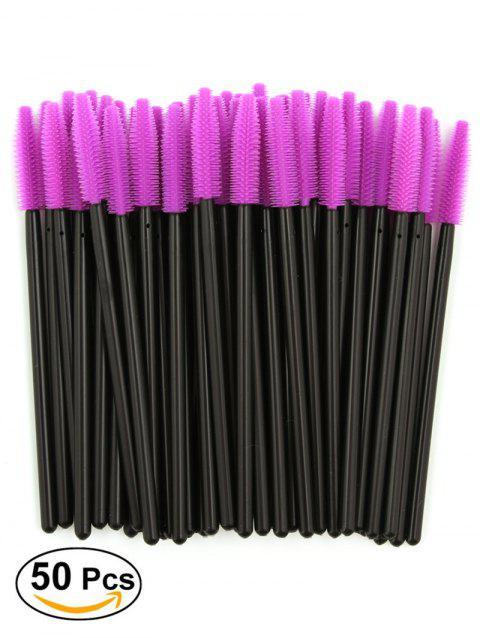 50 Pcs One Off Silicone Brow Eye Groomer Brushes - PURPLE