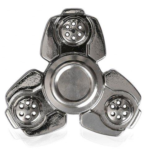 CKF Alloy Finger Gyro Stress Relief Toys Fidget Spinner - SILVER