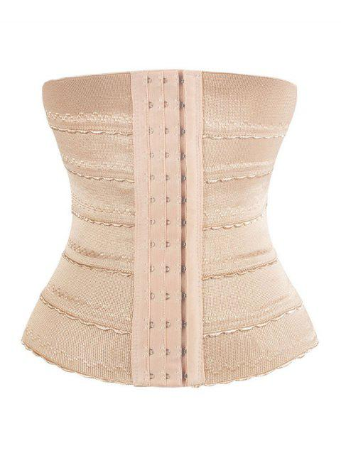 Steel Boned Scalloped Waist Training Corset - COMPLEXION L