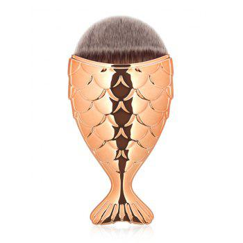 Portable Mermaid Tail Design Makeup Brush