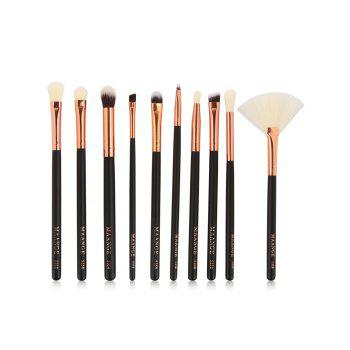 Eye Makeup Brushes Set - BLACK