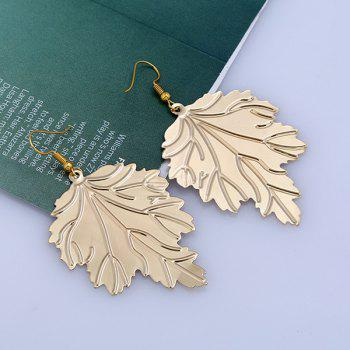 Alloy Tree Leaf Drop Earrings - GOLDEN