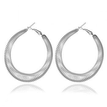 Alloy Circle Spring Hoop Earrings