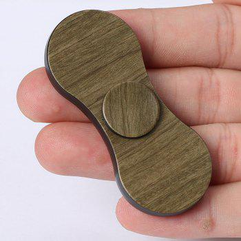EDC Focus Toy Fidget Spinner Plastic Finger Gyro -  WOOD COLOR