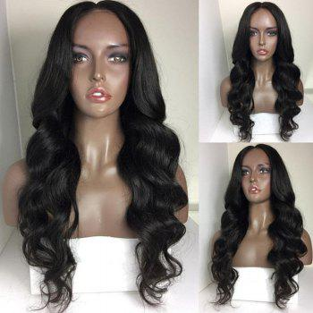 Middle Part Long Body Wave Synthetic Wig