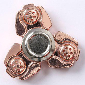 Russie CKF Alloy Finger Gyro Stress Relief Toys Fidget Spinner - Or Rose