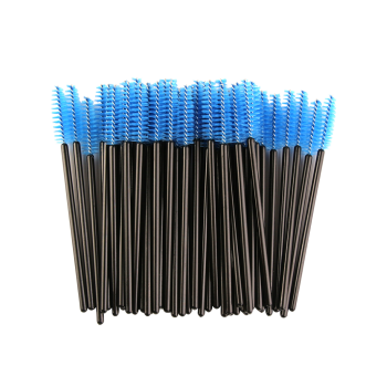 50 Pcs / Pack One-Off Eye Brow Groomer Brushes - Bleu