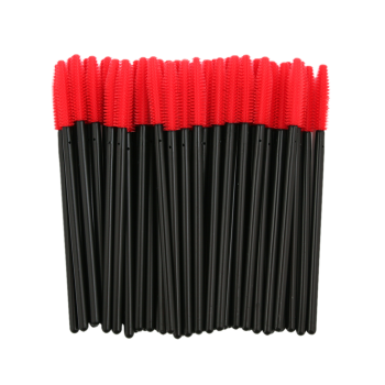 50 pcs One Off Silicone Brow Eye Groomer Brushes - Rouge