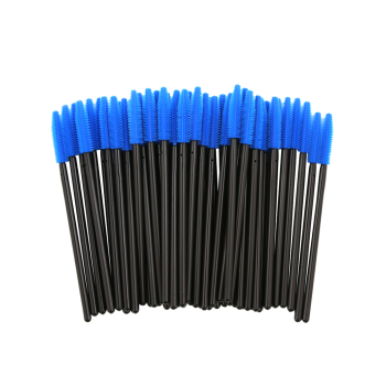 50 pcs One Off Silicone Brow Eye Groomer Brushes - Bleu