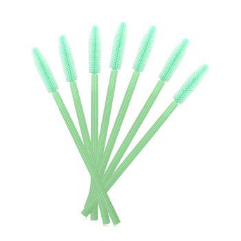 50 pcs One Off Silicone Brow Eye Groomer Brushes - Vert