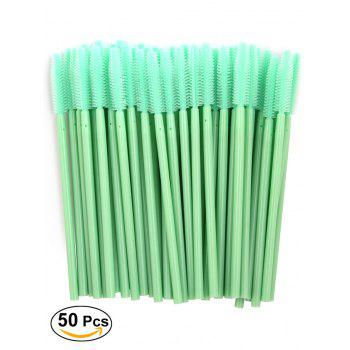 50 Pcs One Off Silicone Brow Eye Groomer Brushes