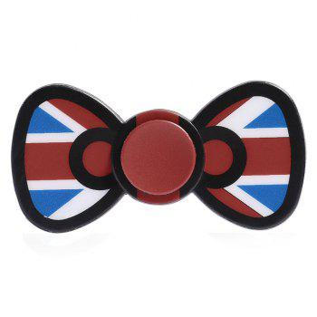 Bowknot Fidget Spinner EDC Toy Plastic Finger Gyro - BRIGHT RED BRIGHT RED