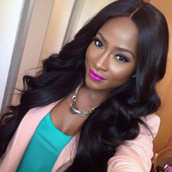 Long Body Wave Shaggy Thick Middle Part Synthetic Wig