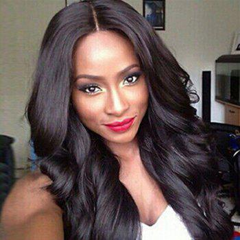 Dyed Perm Layered Long Wavy Center Parting Synthetic Wig