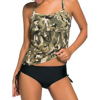Camouflage Cross Back Tankini Set